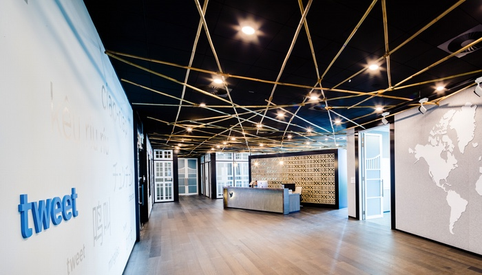 The Reception area at Twitter Singapore's new digs. (Image Credit: Ogilvy)