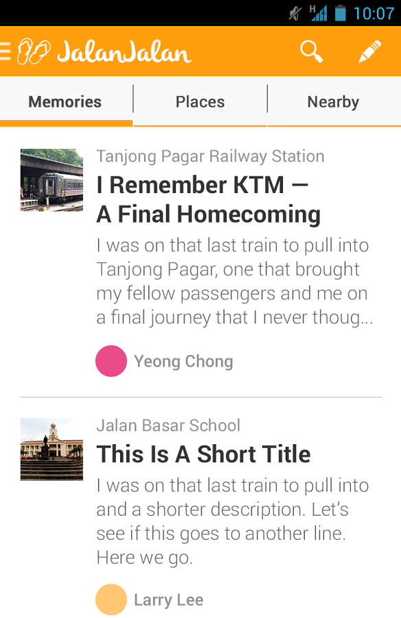 Stories that users can read about via the app. (Image Credit: Google Play)