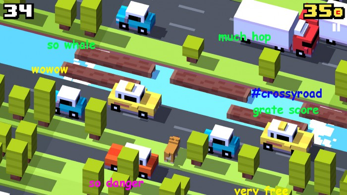 CrossyRoad_InAction_Doge