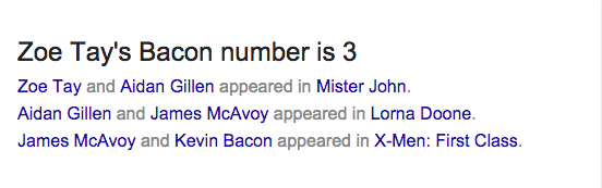 bacon number 13