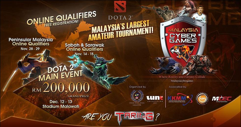 malaysia cyber games largest gaming festival in december