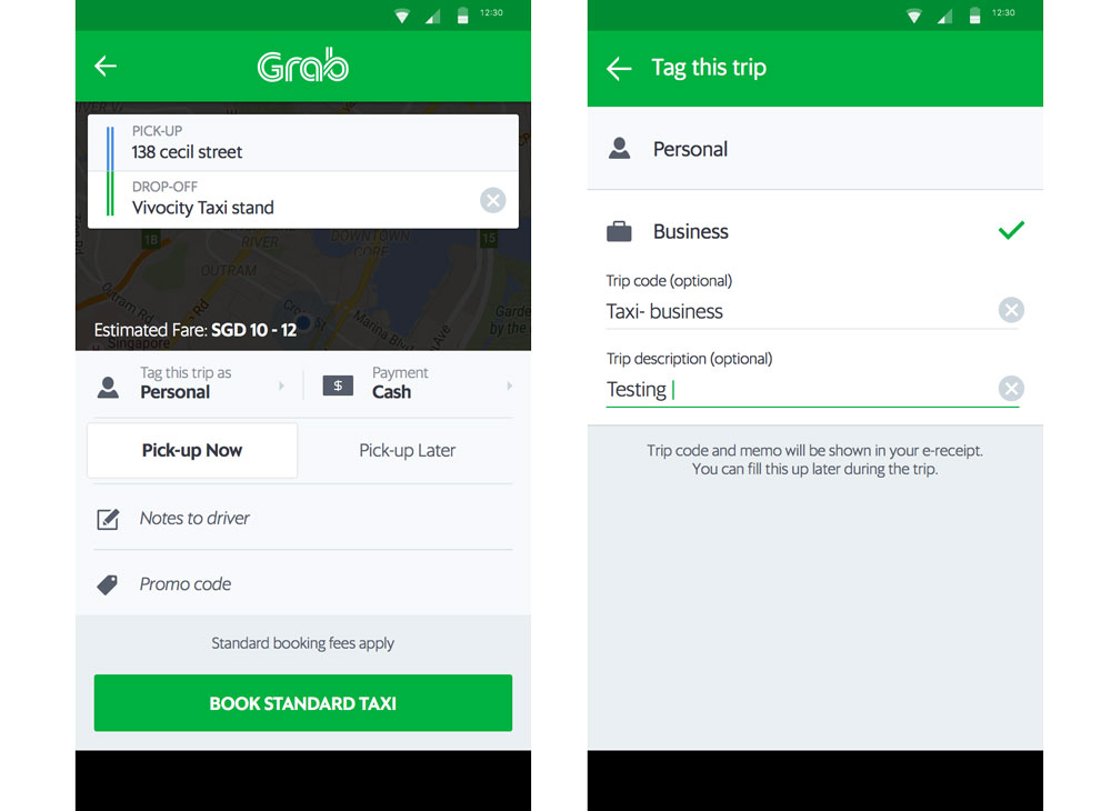 GrabWork - business-friendly features for working professionals
