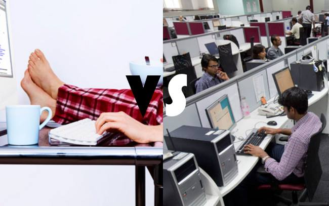 Difference Between Working From Home Vs. Working In Office