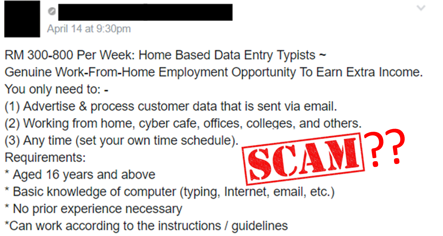 Home Based Data Entry Jobs Malaysia