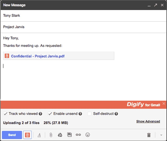 Digify for Gmail Track and Unsend