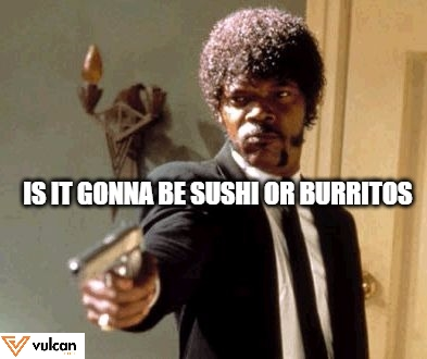 sushi or burritos dining