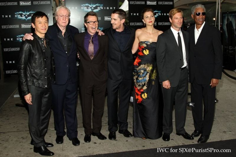 Chin Han with the rest of the cast at The Dark Knight's premiere