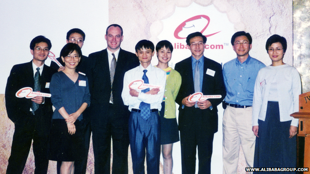 Alibaba's launch day in 1999.