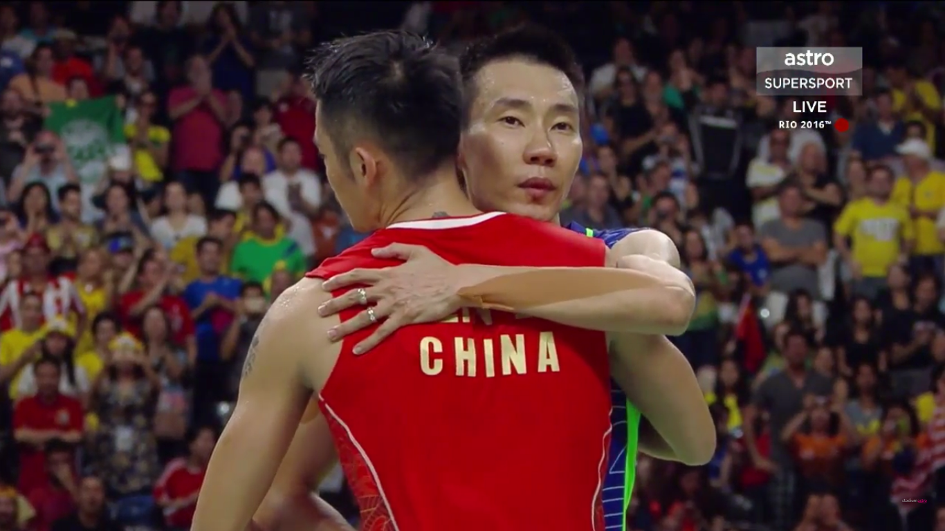 Lee Chong Wei Hugs Lin Dan As A Sign True Sportsmanship Bromance