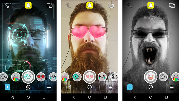 Snapchat filters/ image credit: mode.com