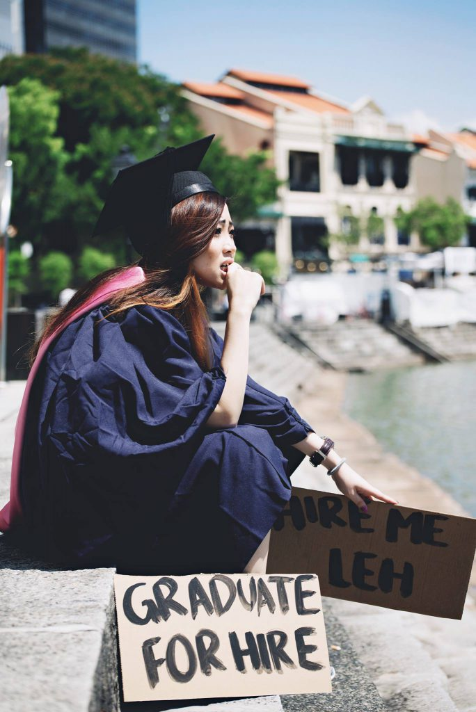 Elizabeth showcases the worries of a graduate/ Image credit:Alexander Ian Loh