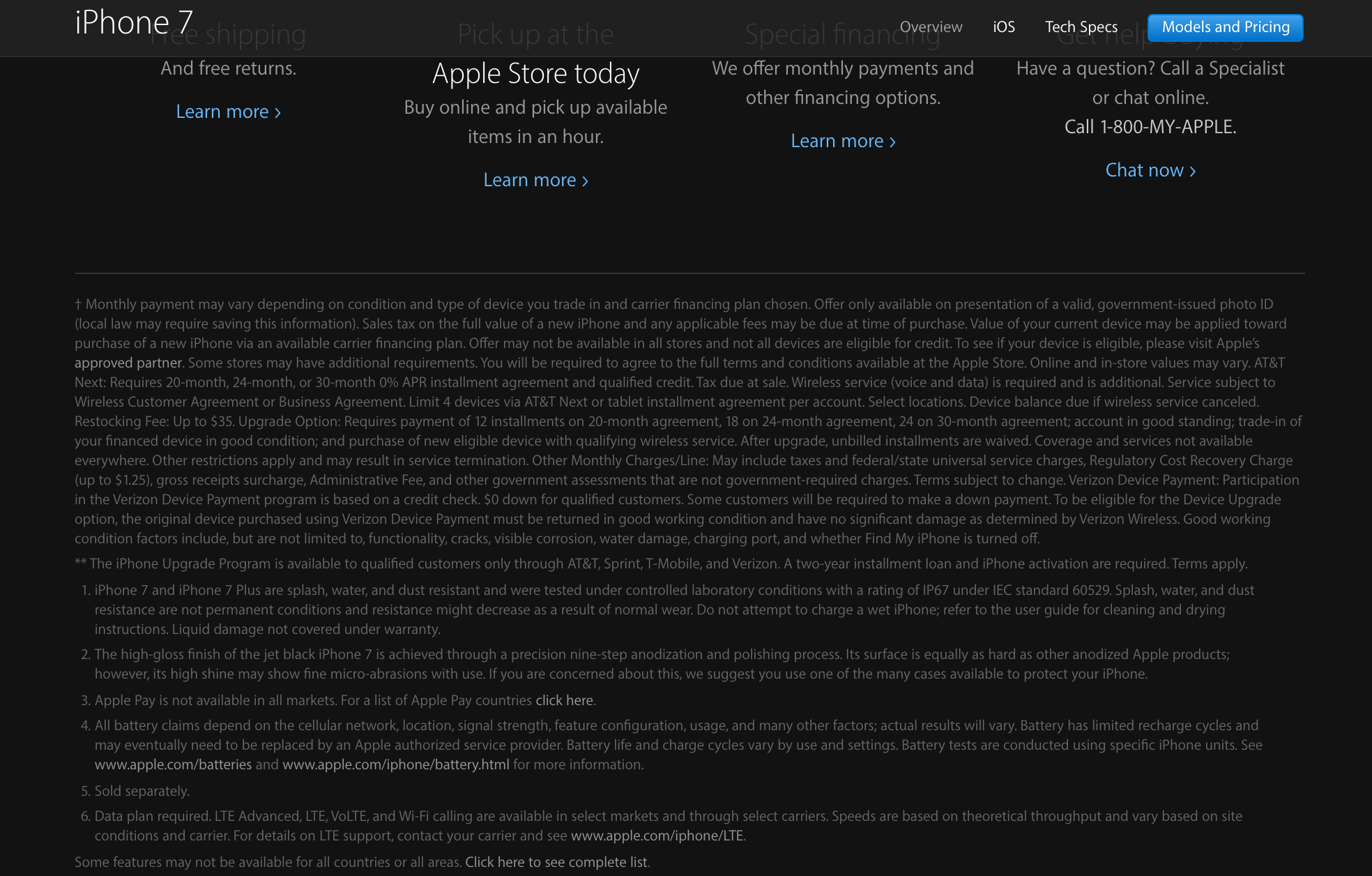"Let's play ""spot the warning"" / Image Credit: Apple Website"