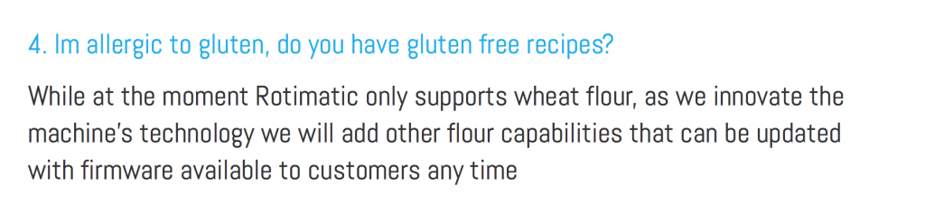 Rotimatic can't make any other flatbreads as explained in their website