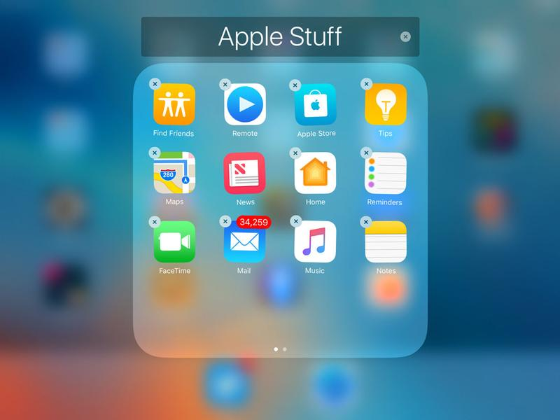 Deleting of pre-installed apps with iOS 10/ Image Credit: Macworld