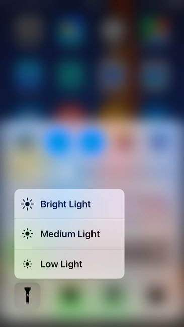 iOS Flashlight now allows to change the intensity of the brightness/ Image Credit: Thurrott