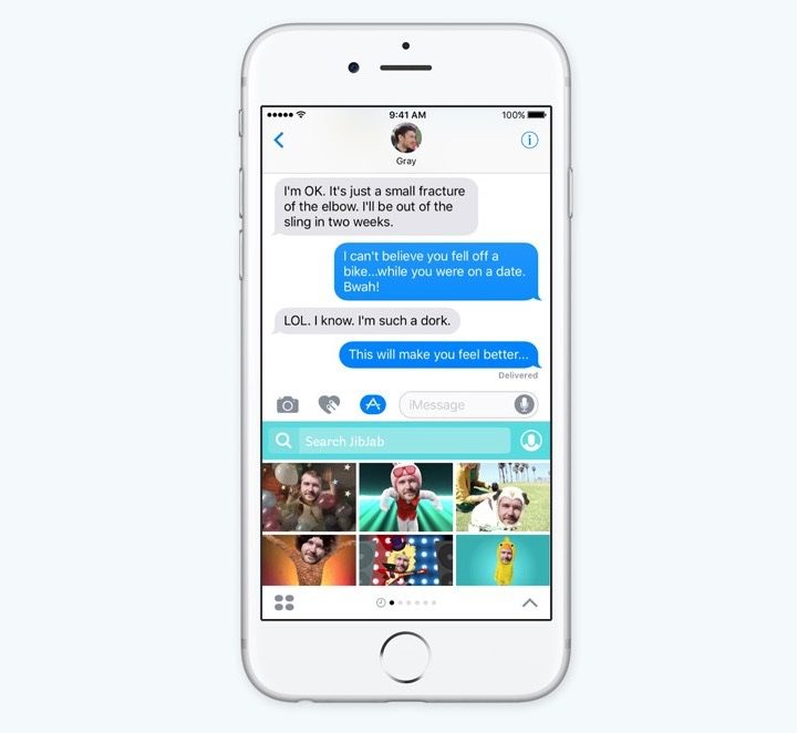 GIFs now available at iOS 10 messages/ Image Credit: Gotta be mobile