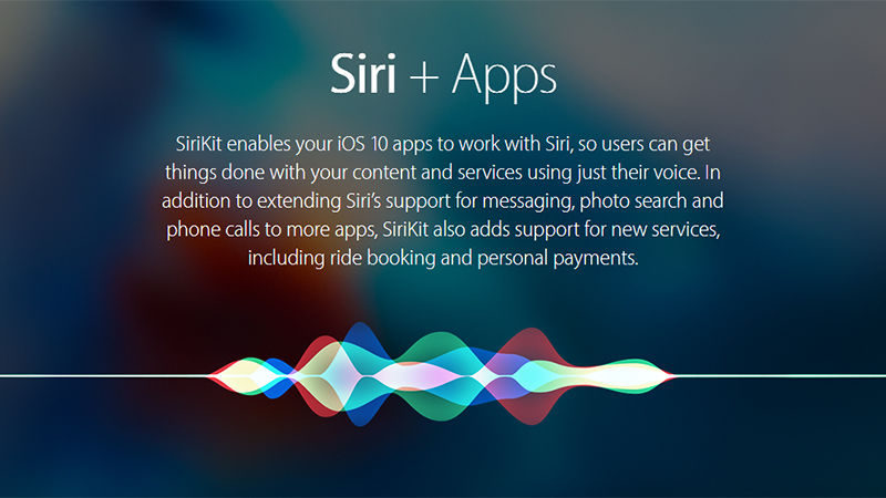 Siri now works with other apps in iOS 10/ Image Credit: Field Gizmodo