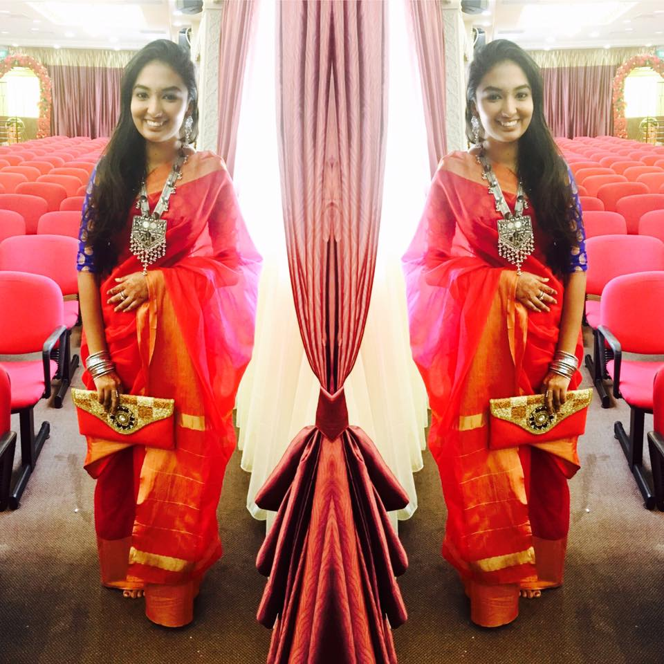 Niswara's creator Sunitha wearing her own designs/ Sunitha Pillay Facebook