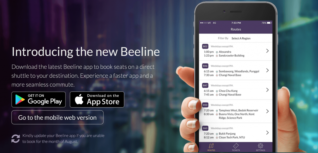 Beeline's website