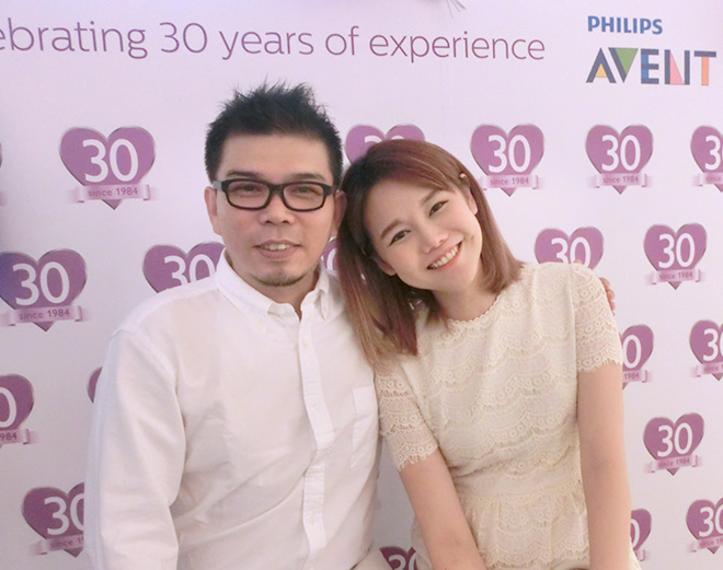Qiu Qiu and her husband at the Philips Avent 30th anniversary event/ Image credit: Qiu Qiu blog
