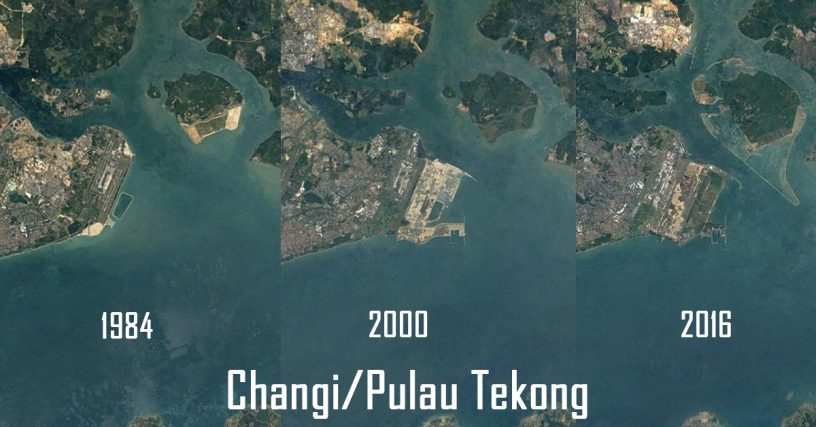 google earth shows us how singapore looked like 22 years ago