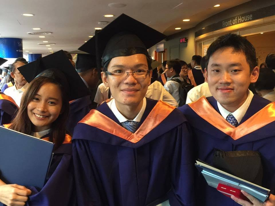 Erin, Melvin and Yang Shun at their graduation in 2015