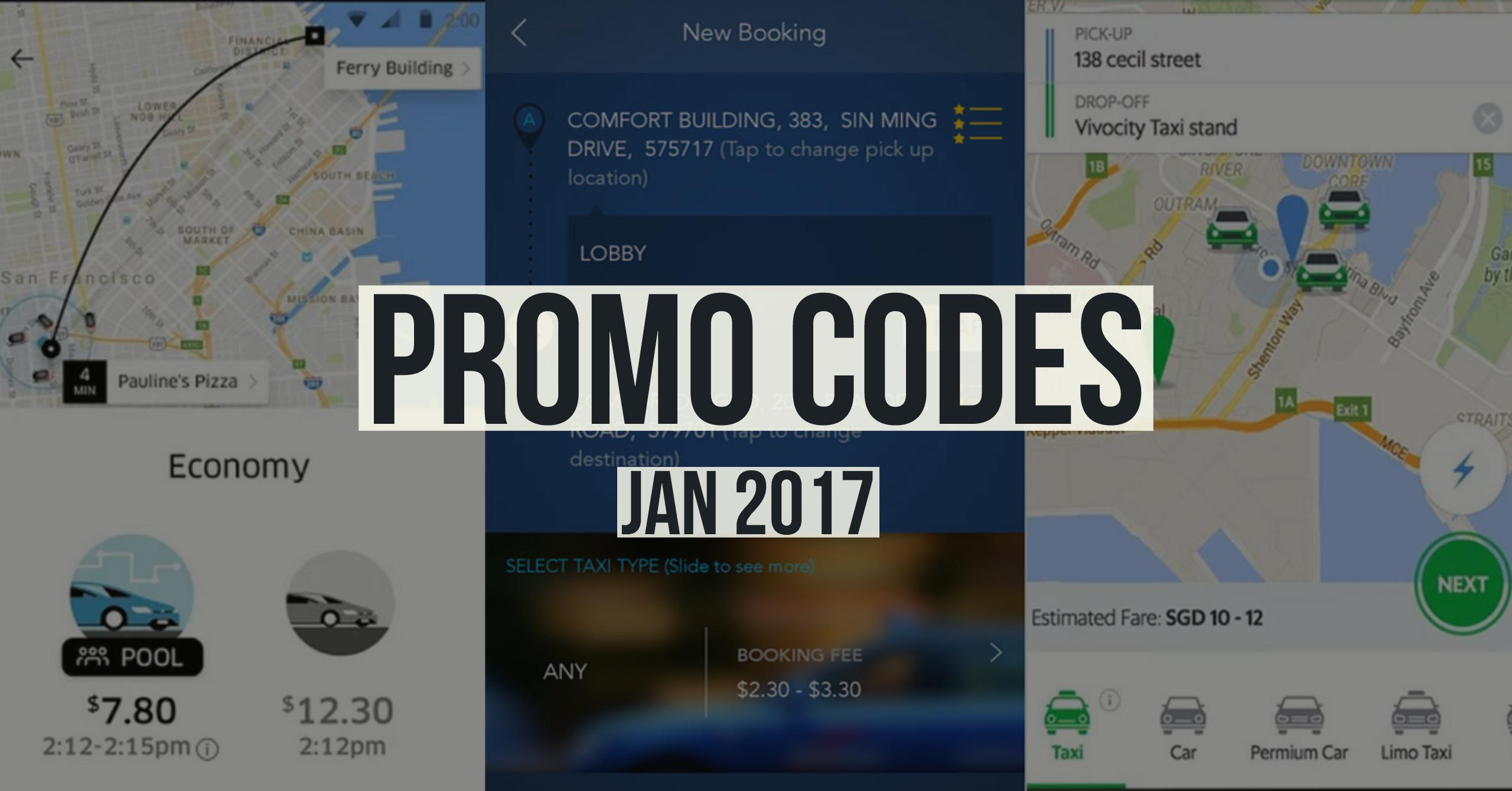 Here Are All The Uber, Grab And Comfort Promo Codes For Jan 2017