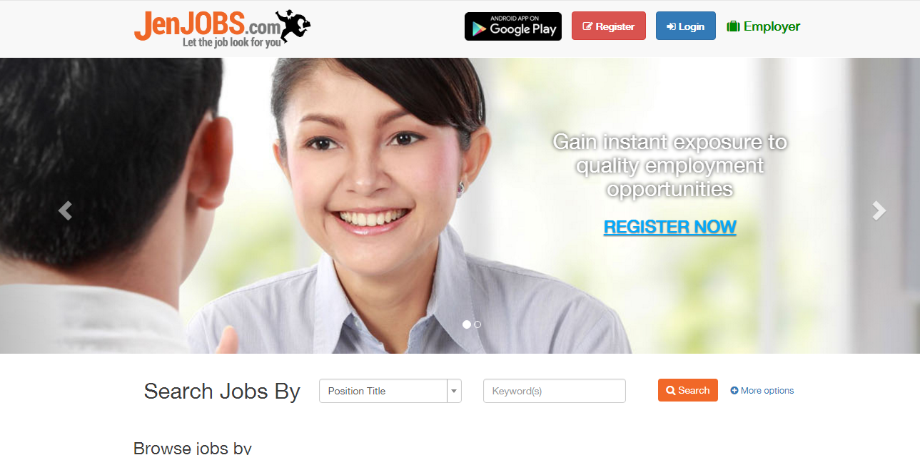 list of online job hunting platforms m sians can use to apply for screenshot of the website