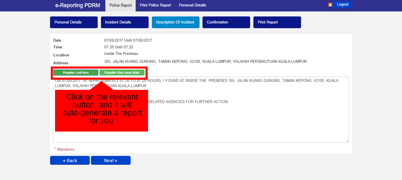 How To Lodge A Police Report Online For Non-Criminal Cases