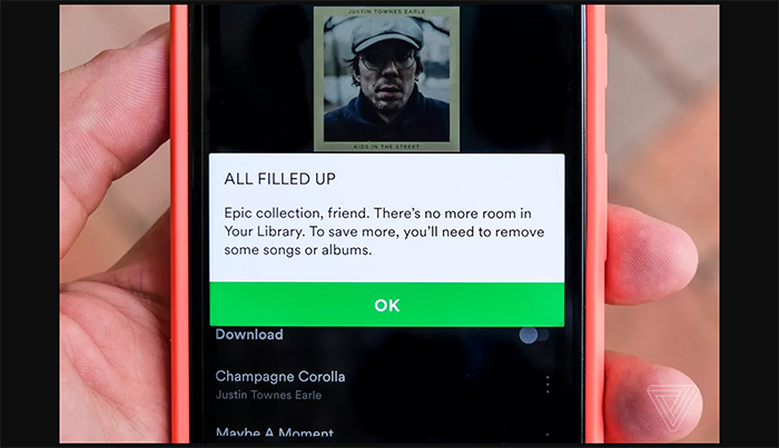 Spotify Actually Has A Limit On How Many Songs You Can Save