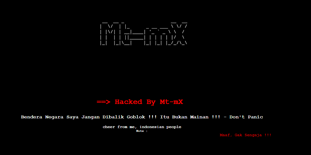 Indonesian Hackers Defaced Over 60 M'sian Websites Over Flag Mistake