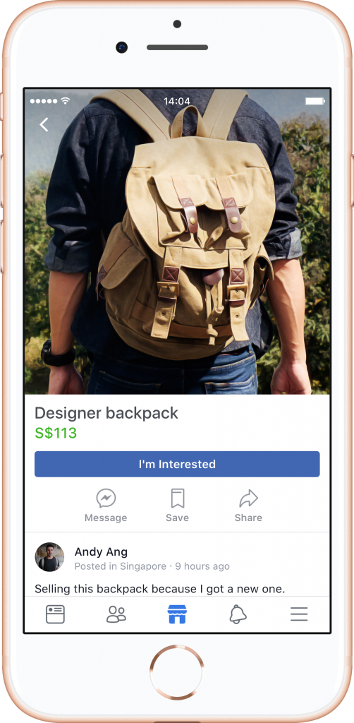 Facebook (finally) launches marketplace In Singapore 7fe1862c12608