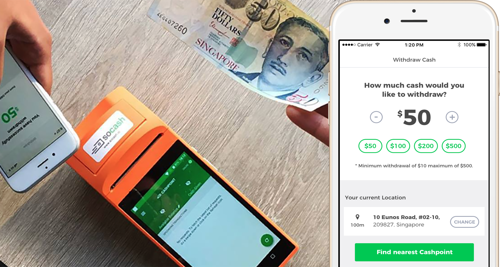 Startup soCash Lets You Withdraw Cash Anywhere In Singapore