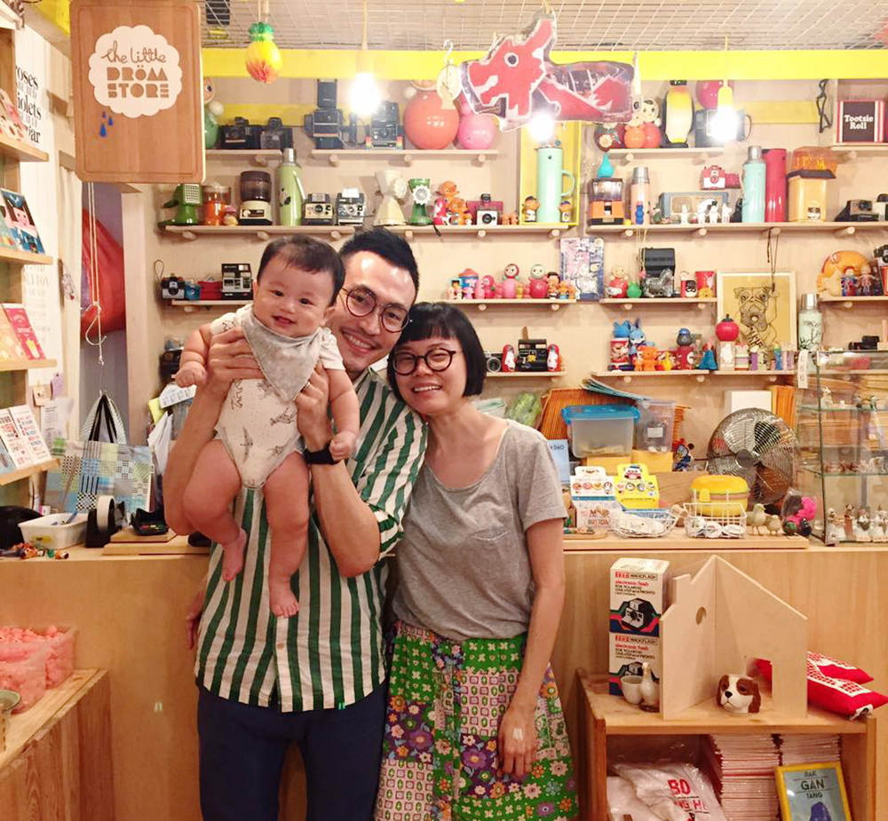 the little drom store founders parents family baby