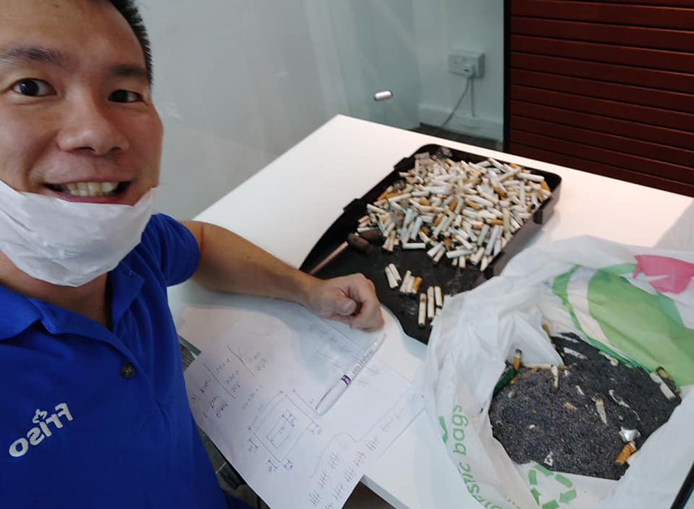 stefen choo counted 1150 cigarettes in smoking cabin
