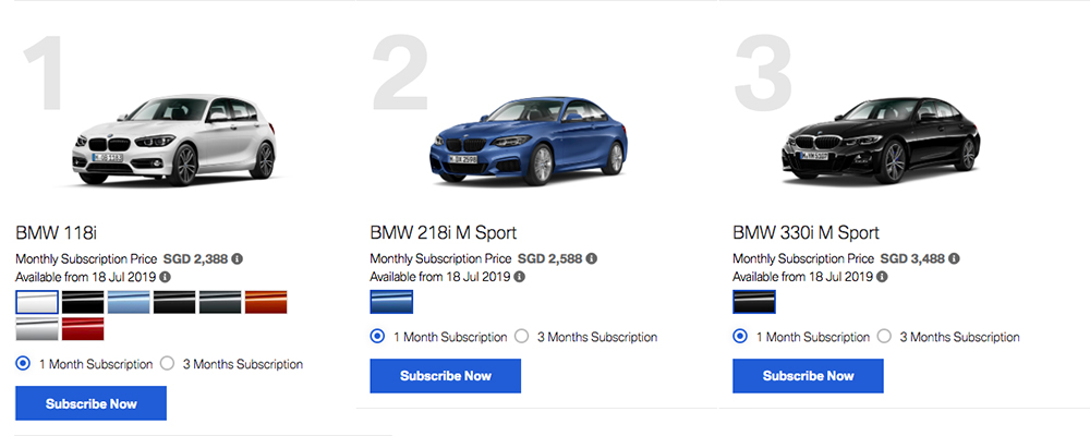 access by bmw subscription singapore luxury car monthly subscription service