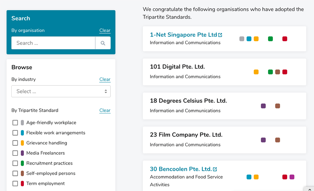 tafep tripartite standards singapore companies with progressive employment practices