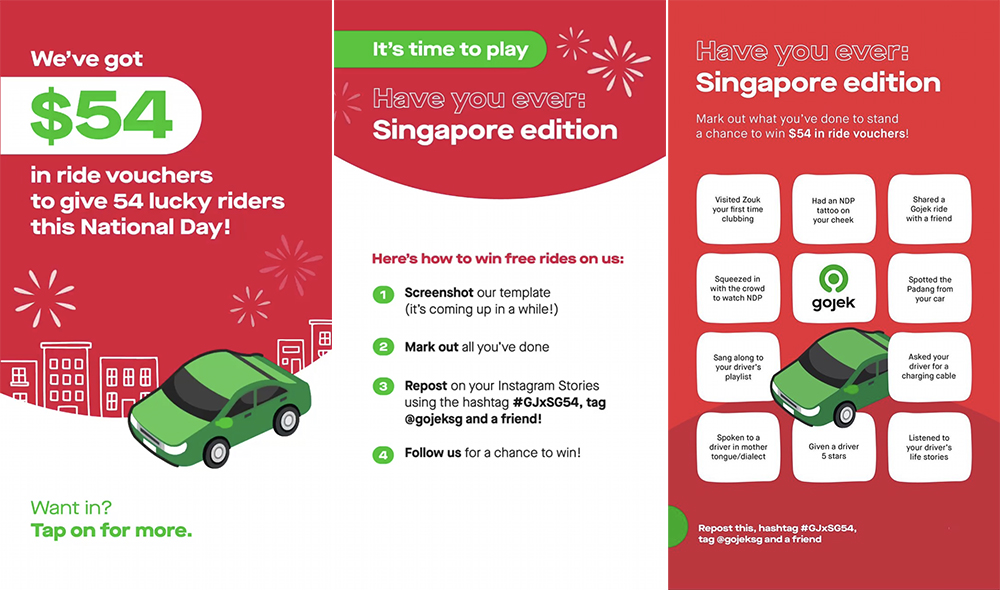 gojek singapore national day $54 ride vouchers contest