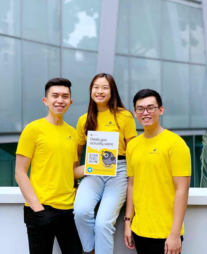 SG Kiasu Foodies team: Dylan Teo, Terena Hung and Goh Wei Wen