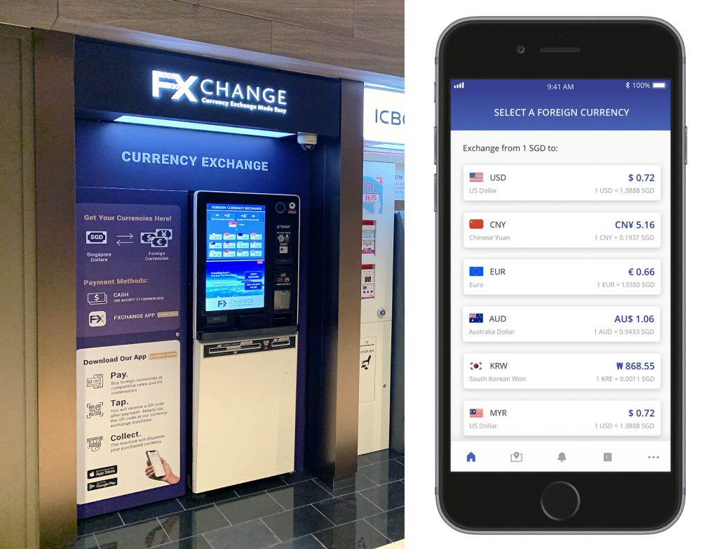 Singapore online money changer and ATM FXChange