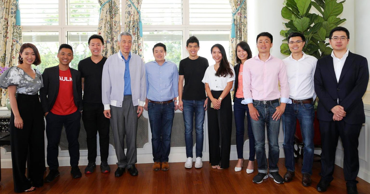 Prime Minister Lee Hsien Loong meets Singapore startup founders