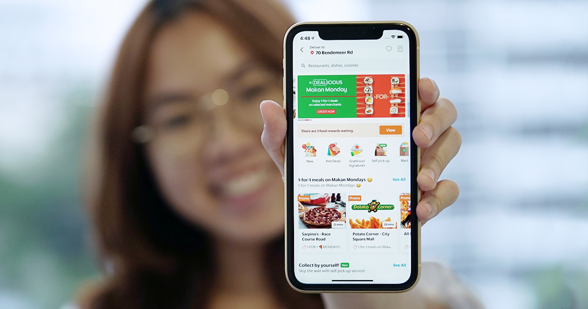 GrabFood Singapore food delivery features