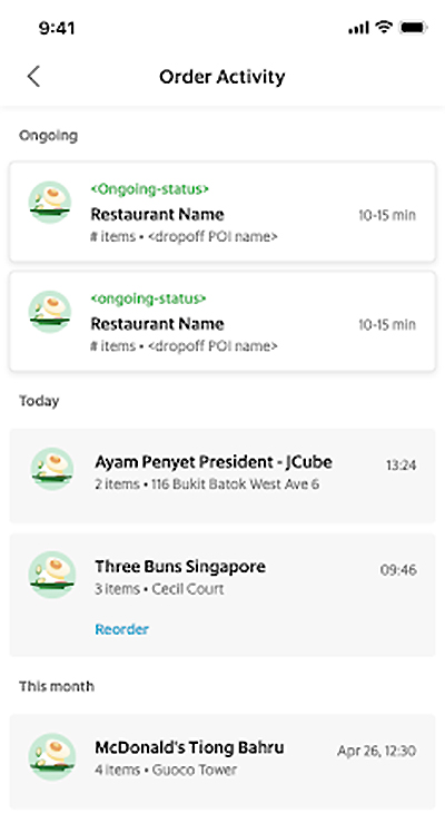View your multiple concurrent GrabFood orders