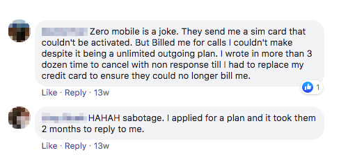 Zero Mobile users review bad experience