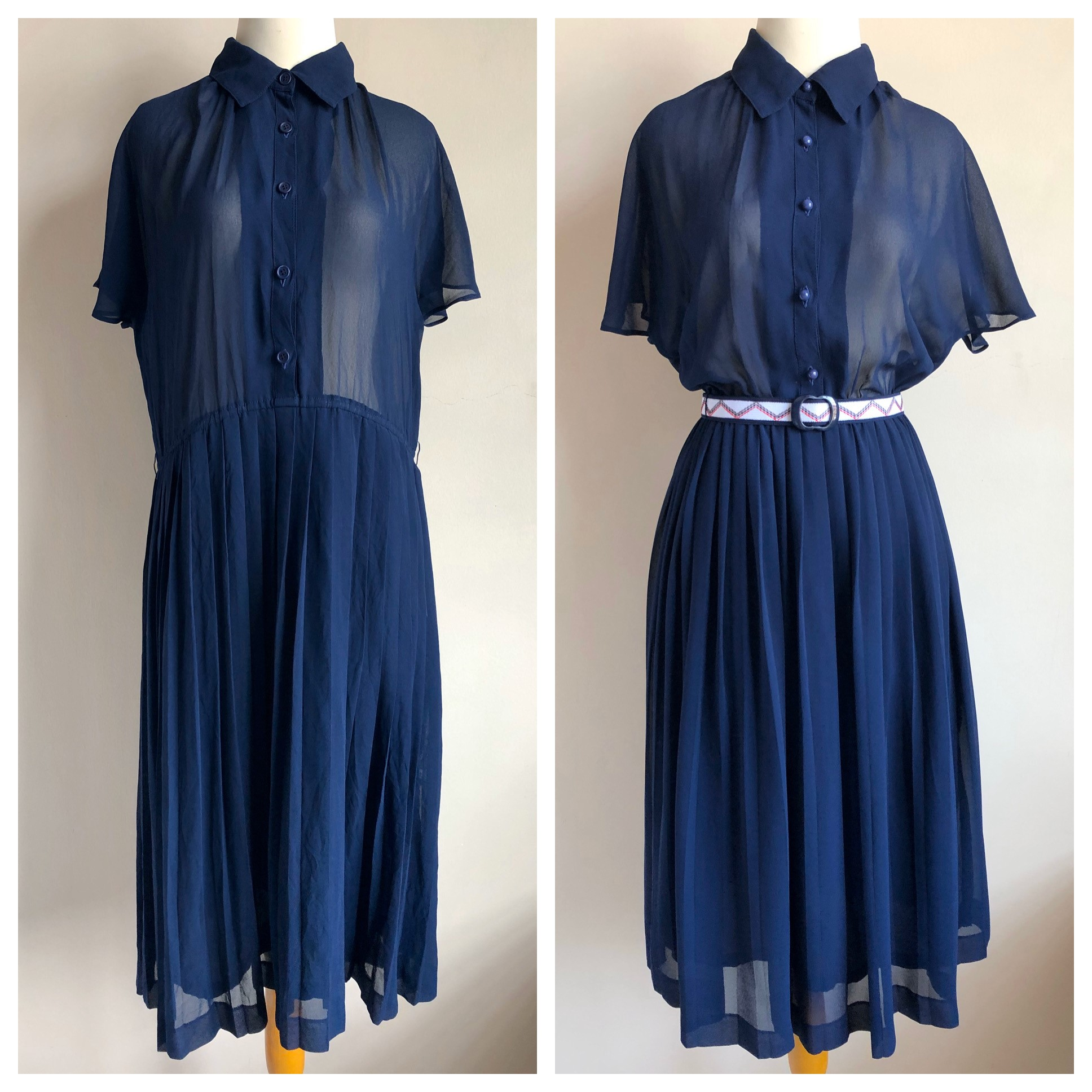 Before and After authentic vintage clothing by Heritasia Crafts