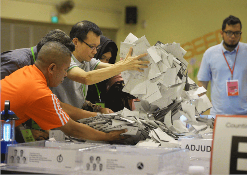 Counting officers at the general elections singapore