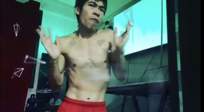 Steven Lim breaking into a song and dance