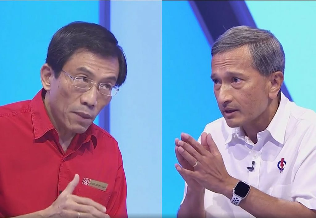 Chee Soon Juan Singapore Democratic Party SDP chief and Vivian Balakrishnan PAP
