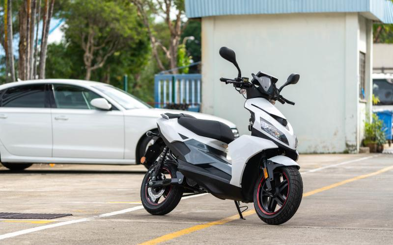 Electric motorcycle by Ion Mobility, SMU Incubation Programme