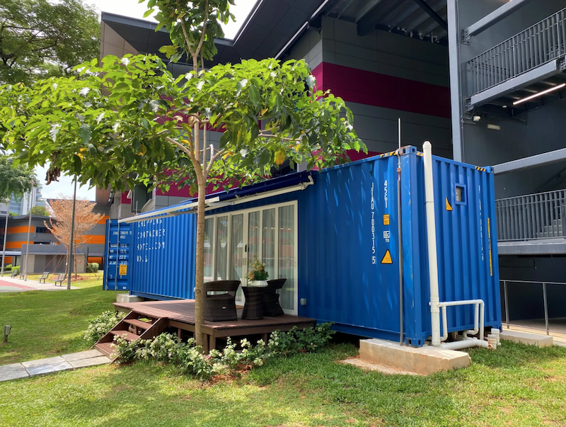 shipping container hotel singapore